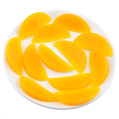 Gresorth 20 PCS Artificial Yellow Peach Slice Fake Fruit Slices Home Table Cabinet ()
