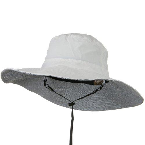 50+ Wide Brim Talson Bucket Hat - White 2XL (Wired Nylon Hat)