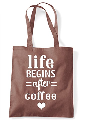 Tote Coffee After Bag Chestnut Statement Begins Life Shopper HIaw6qcn