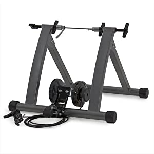 Best Choice Products Foldable Bike Trainer Stand w/ 5 Resistance Levels Gray