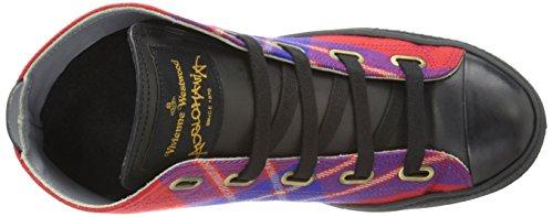 Vivienne Westwood Kvinna Hög Topp Korg Mode Sneaker Lyon / Red