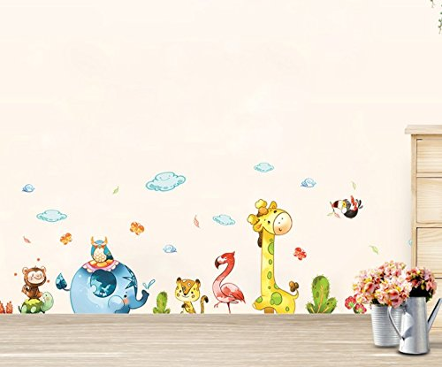 Forniture da scrivania Cartone animato animali da parete Adesivo da parete Adesivo decorativo Adesivo per bambini Bellecita
