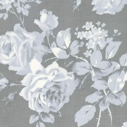 FreeSpirit Fabrics Free Spirit 0525000 Tanya Whelan Shades Royal Rose Fabric by The Yard, Grey