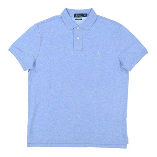 Polo Ralph Lauren Mens Custom Slim Fit Stretch Mesh Polo Shirt (Large, Polo Blue)