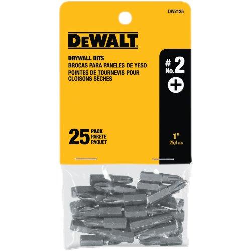 DEWALT DW2125 #2 Phillips Drywall Bit Tip (25-Pack) ()