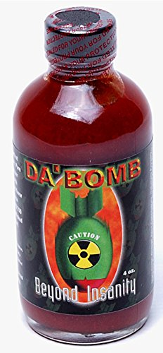Da Bomb Sauce - Beyond Insanity Hot Sauce 4 OZ - 4 Pack