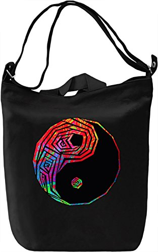 Psy Yin Yang Borsa Giornaliera Canvas Canvas Day Bag| 100% Premium Cotton Canvas| DTG Printing|