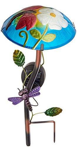 - Regal Art &Gift Solar Mushroom Stake Dragonfly Garden Decor