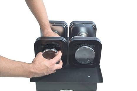 amazon com ironmaster 75 lb quick lock adjustable dumbbell system
