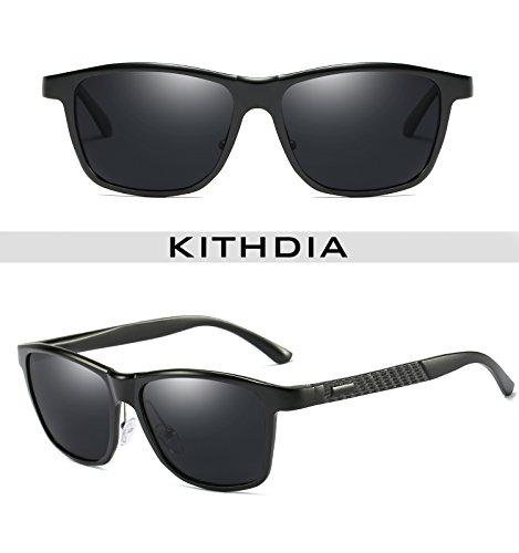 KITHDIA Mens Driving Polarized Wayfarer Sunglasses Al-Mg Metal Frame Ultra Light #407 by KITHDIA (Image #3)