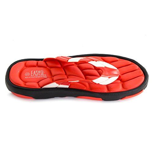 Mens Gummi Svamp Flip Flops (voksne) Red