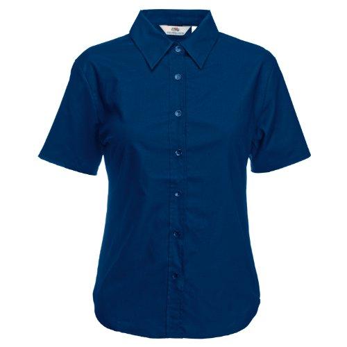 Fruit of the Loom Ss110m, Camisa para Mujer Marino