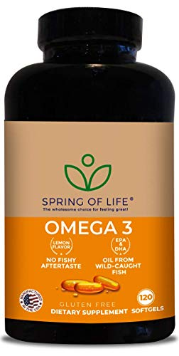 Spring of Life Premium Omega 3 Softgels with EPA