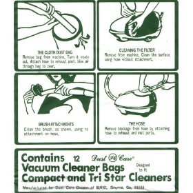 Compact Vacuum Cleaner Bags - 4