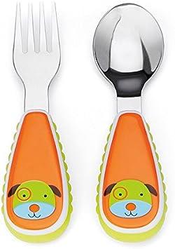 Imagen deSkip Hop Zoo - Cubiertos, diseño dog, color naranja