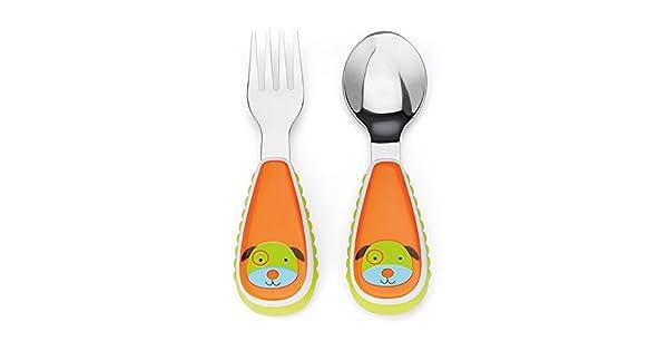 Amazon.com: Zoo - Juego de utensilios para niños, Total 1: Baby