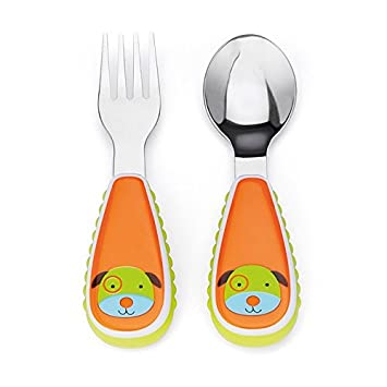 Skip Hop Baby Zoo Little Kid and Toddler Fork and Spoon Utensil Set Multi Darby  sc 1 st  Amazon.com & Amazon.com : Skip Hop Baby Zoo Little Kid and Toddler Fork and Spoon ...