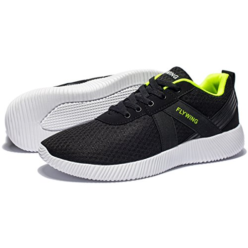 Sports Shoes Green Shoes Breathable Leisure Running Men's FLYWING Black Athletic Shoes Lightweight Mesh W1pcn7z
