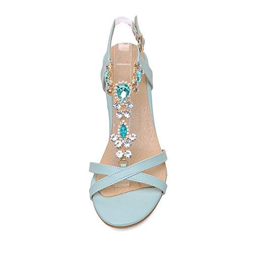 Blau Damen Größe Sandalen 38 Adee axFPnxw