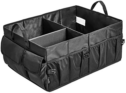 Amazon Basics Trunk Organizer with Collapsible Design for Cars, SUVs, and Trucks – Black