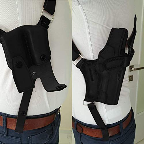 Leather Shoulder Holster and Double Mag Pouch for Glock 43 / Sig Sauer P226 / Sig Sauer P229 / Colt 1911 5