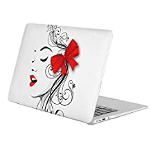 """KoolMac [ Full Body Hard Case ] [ Apple Old Macbook Pro 13"""" with Retina Display / NO CD-ROM (Model: A1502 / A1425) ] - Artistic Vector Lips Face"""