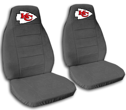 2 Charcoal Kansas City seat covers for a 2007 to 2012 Chevrolet Silverado. Side airbag friendly. by Designcovers