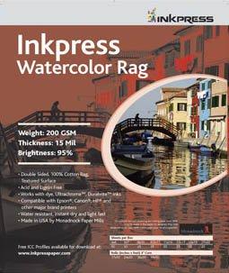 Inkpress Watercolor Rag Linen Textured Fine Art Inkjet Paper 17