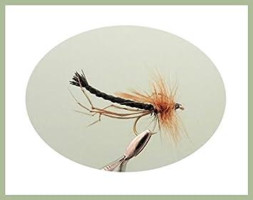 Detached body 4 Colours Fishing Flies Daddy Long Legs Flies Size 10 16 Pack