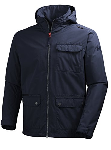 Helly Hansen Men's Highland Waterproof Windproof Breathable Rain Jacket, 598 Navy, XX-Large by Helly Hansen