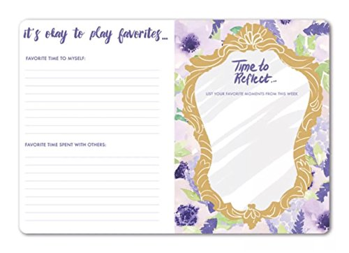 Punch Studio Favorite Things Guided Soft Cover Journal, Lavender Floral 75919 by Punch Studio (Image #1)