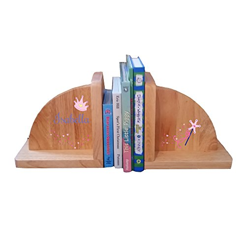 Personalized Fairy Princess Natural Childrens Wooden Bookends by MyBambino