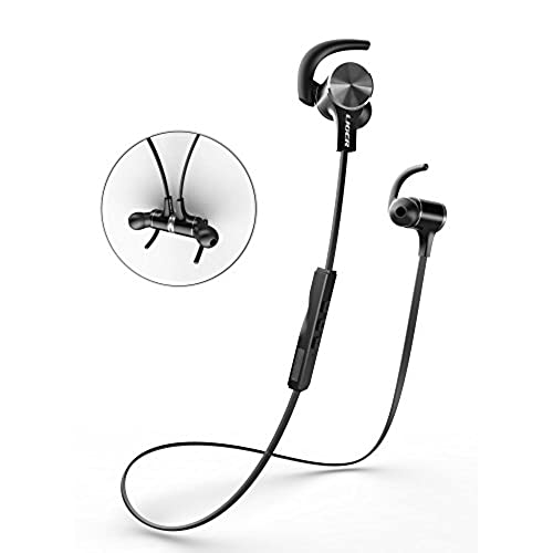 durable service Bluetooth Headphones, Liger MH770 Wireless Stereo Bluetooth 4.1 Sport Headphone with Magnetic Tips, In-Ear Noise Cancelling and Sweat Proof Earbuds, Hands Free Calling and Microphone