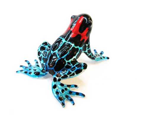 Lampwork COLLECTIBLE MINIATURE HAND BLOWN Art GLASS New Magic Frog FIGURINE by ChangThai Design