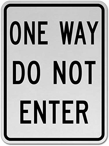 Traffic Signs - One Way Do Not Enter Sign 12 x 8 Aluminum Sign Street Weather Approved Sign 0.04 Thickness