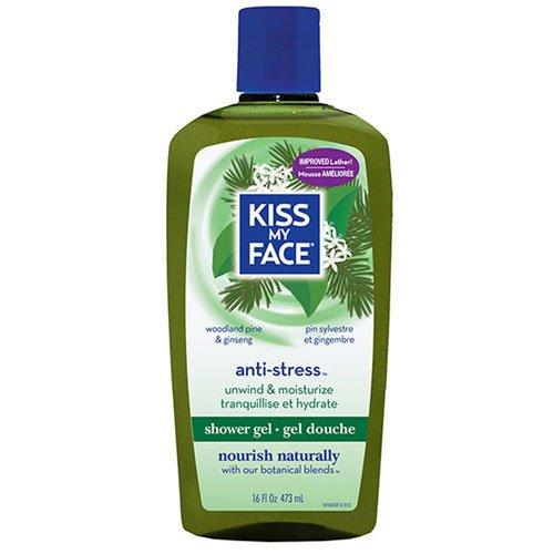 Kiss My Face Aromatherapeutic Anti-Stress Moisturizing Shower Gel, Bath and Body Wash, 16 oz (Pack of 3)