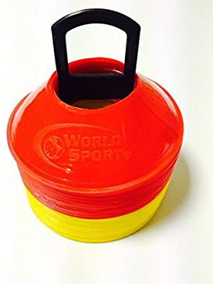 World Sport MINI Disc Cones 25 Red / 25 Yellow (50 Pack)