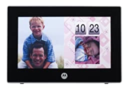 Motorola MFV700 7-inch Digital Frame with Video-In-Picture and Wireless DECT 6.0 Camera (Black)