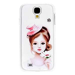 CECT STOCK Beautiful Girl Caso duro del patrón con el Rhinestone para Samsung i9500 Galaxy S4