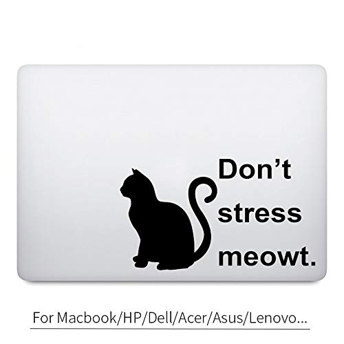 haneudl Laptop Decals Funny Black Cat Quote Decal Laptop Sticker for Laptop Laptop Sticker -
