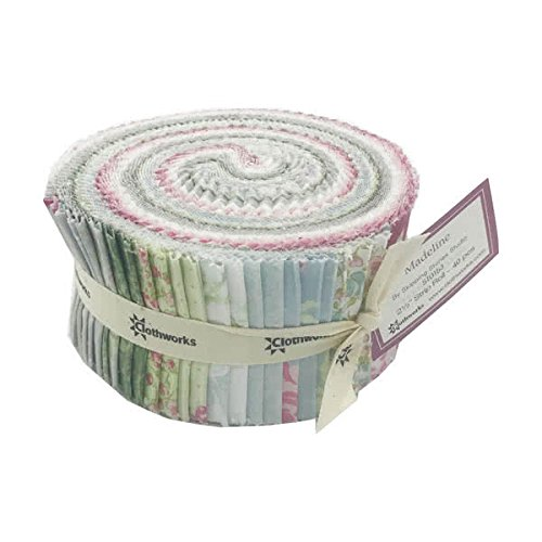 Clothworks Madeline by Skipping Stones Studio 2 1/2 Inch Strip Roll (Studio Stones Skipping)