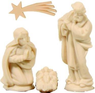 Krippenfiguren Bastelset Heilige Familie Höhe 3cm Zisaline