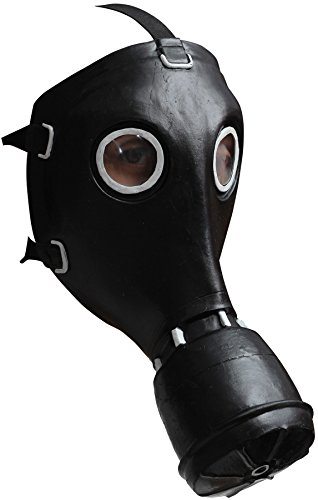 [UHC Men's Historical GP5 BioHazard Gas Latex Mask Halloween Accessory] (Cool Gas Mask Costumes)