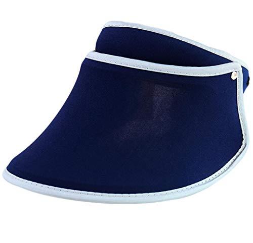 Santwo Women Sports Sun Visor Cap Sweat-Absorbent Baseball Travel Adjustable Hat (Navy) ()