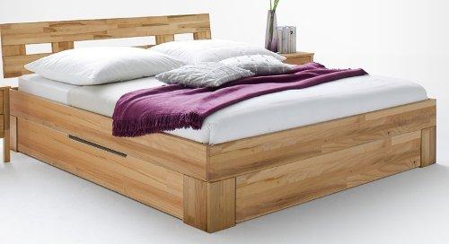 7-7-6-2149: schönes Schlafzimmerprogramm AAS - Kernbuche vollmassiv geölt - Doppelbett LF 180x200cm zzgl. Schubkastenset für Doppelbett