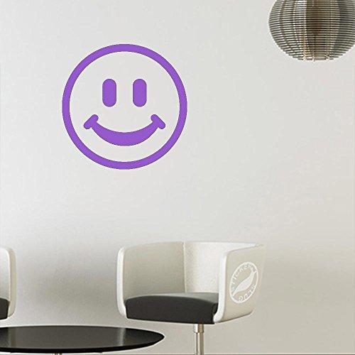 Smiley Face Decal Sticker (Matte Purple, 11 inch) (Purple Face Smiley)