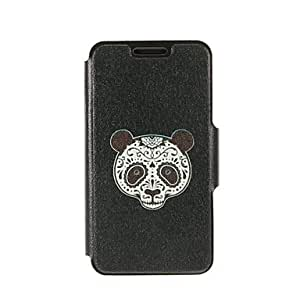 Fashionable Kinston Panda Facebook Pattern PU Leather Full Body Cover with Stand for iPhone 6 Cases, iphone 6 Covers