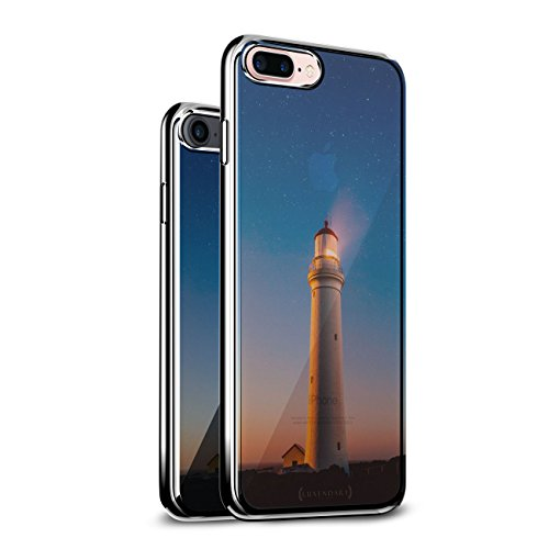 The Lighthouse Seethrough | Luxendary Chrome Series Designer case for iPhone 8/7 Plus in Silver Trim
