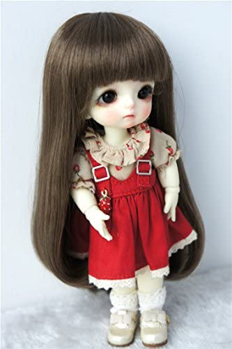 5-6inch Doll Wigs Lati Yellow Synthetic Mohair 1//8 Long Slight Curly BJD Hair