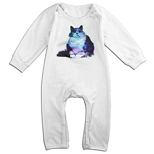 Magic Man Costume Adventure Time (Infant Baby's Starry Night Sky And Cat Long Sleeve Romper Jumpsuit 18 Months White)